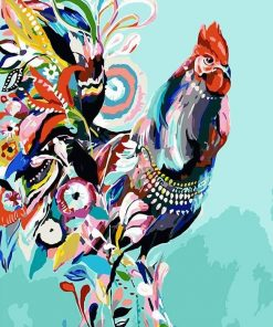 Colorful Chicken Paint by numbers