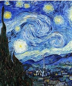Starry Night Vincent Van Gogh paint by numbers