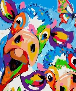 Buy Exotic Colorful Cows - Animals Paint By Number kit or check our new modern collections for adults paint by numbers. Relax and enjoy your canvas painting paint by numbers