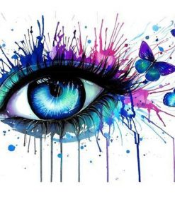 Eyes Tear Butterfly paint by numbers