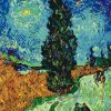 Road with Cypress and Star Van Gogh Paint by numbers