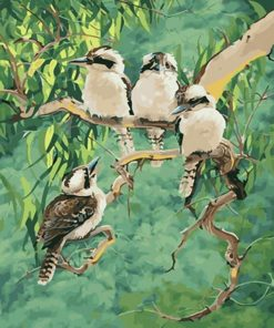 Laughing Kookaburra paint by numbers