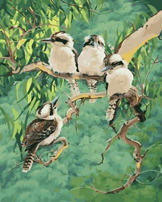 Laughing Kookaburra paint by numbers