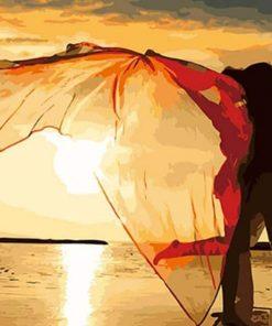 Seaside Lovers paint By Numbers