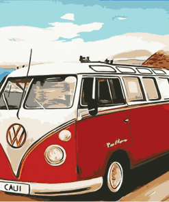 VW California Camper paint by numbers