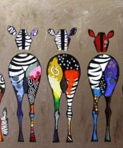 Zebra Bottoms paint by numbers