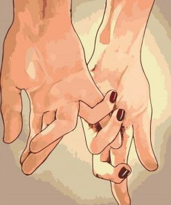 Couple Holding Hands paint By Numbers