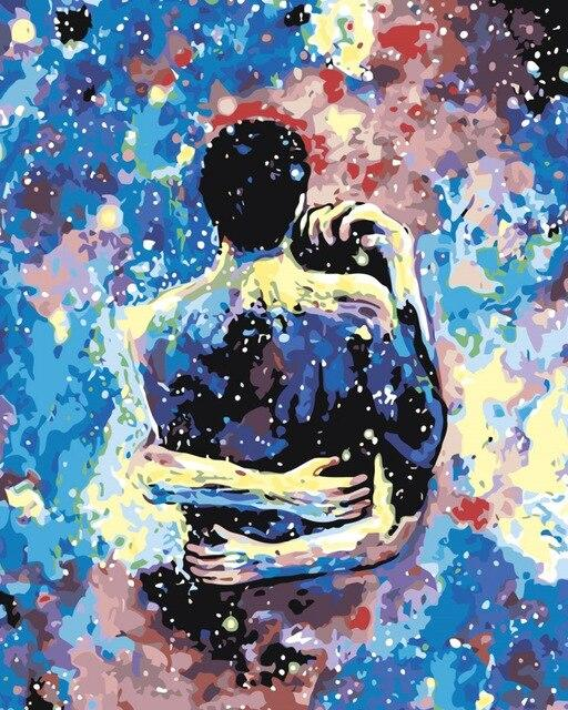 Couple Big Hug paint by numbers