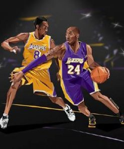 Kobe Bryant No 8 No 24 paint By Numbers