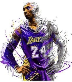 Legendary Kobe Bryant paint By Numbers