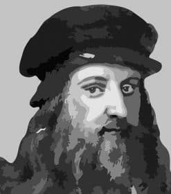 Leonardo da Vinci Portrait paint by numbers