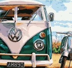 VW Bus paint by numbers