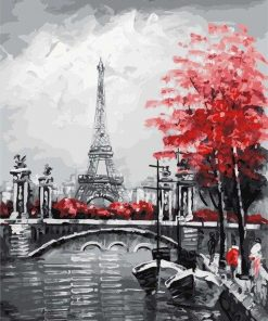 Seine River Through Paris paint by numbers