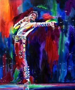 Colorful Michael Jackson Paint By Numbers