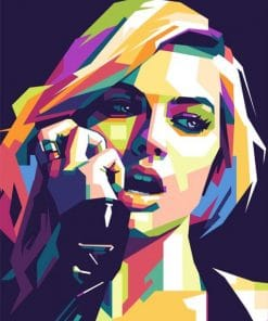 Margot Robbie on Pop Art Paint By Numbers