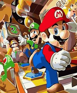 Mario Family paint by numbers