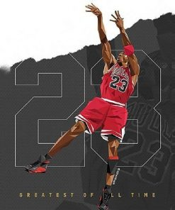 Michael Jordan Athlete Paint By Numbers