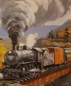 Mountain Train paint by numbers