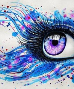 Multi Colored Eyes paint by numbers