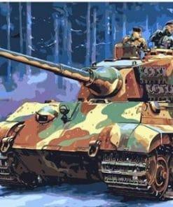 German Tank Paint By Numbers