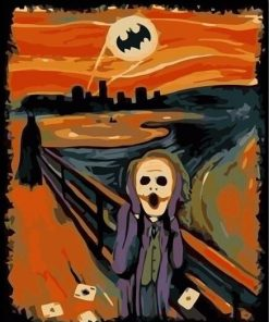 Batman Joker Scream paint by numbers