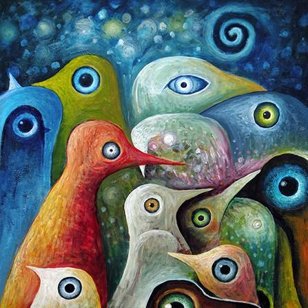 Abstract Birds Paint by numbers