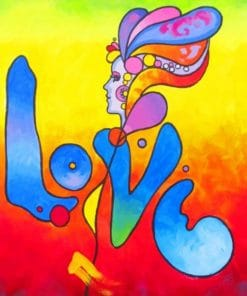 Peter Max Love Draw Paint By Numbers