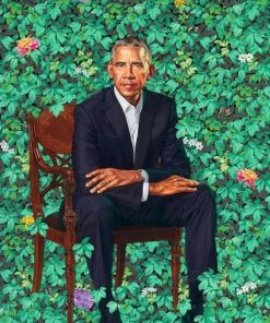 Portrait of Obama Paint By Numbers