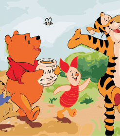 Tigger And Eeyore paint by numbers