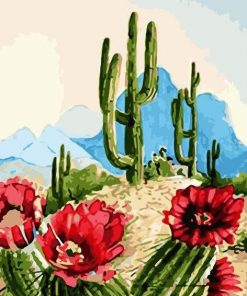 Desert Cactus Paint By Numbers