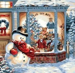 Christmas Snow Art paint by numbers