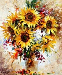 Yellow Sunflower Acrylic Picture Paint By Numbers