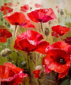 RUOPOTY-Red-Flower-Abstract-DIY-Painting-By-Numbers-Kits-Modern-Wall-Art-Picture-Handpainted-Oil-Painting