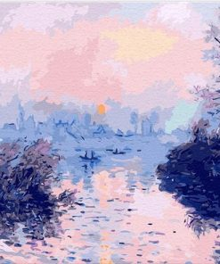 Sunset On The Seine At Lavacourt paint by numbers