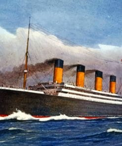 Titanic Ship Sailing paint by numbers