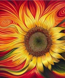 Gorgeous Sunflower Paint By Numbers