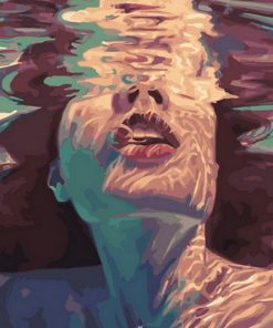 Woman in The Water paint by numbers