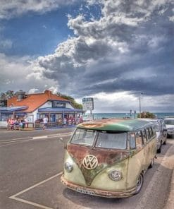 Volkswagen Old Bus paint by numbers