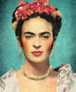 Frida Kahlo Face paint by numbers
