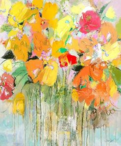Watercolor Floral paint by numbers
