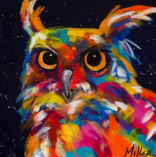 Wise Owl Paint by numbers