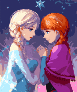 Anna And Elsa paint by numbers