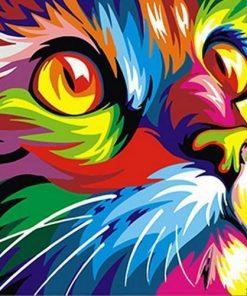 Pop Art Cat paint by number