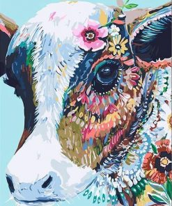 Abstract Cow Paint by numbers