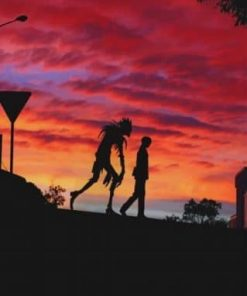 Death Note Ryuk Silhouette Paint by numbers