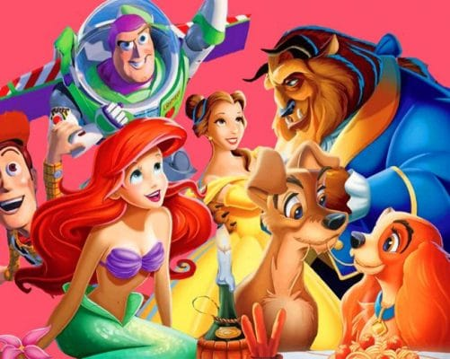 Disney Cartoon Characters paint by numbers