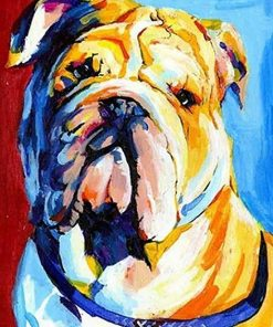 Sad Bulldog Paint By numbers