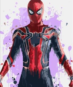 Spiderman paint by numbers