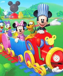 Mickey Mouse Hoo Choo Express paint by numbers