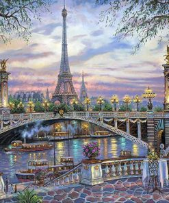 The River of Paris paint by numbers